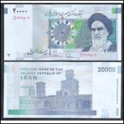 Irã - 20000 Rials, fe. Personagem, Aiatolá Khomeini.