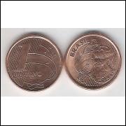 2003 - 1 Centavo, fc, aço revestido de cobre.