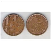 2003 - 1 Centavo, mbc-s, aço revestido de cobre.