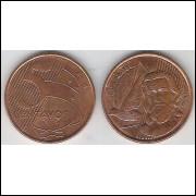 2006 - 5 Centavos, s-fc, aço revestido de cobre.