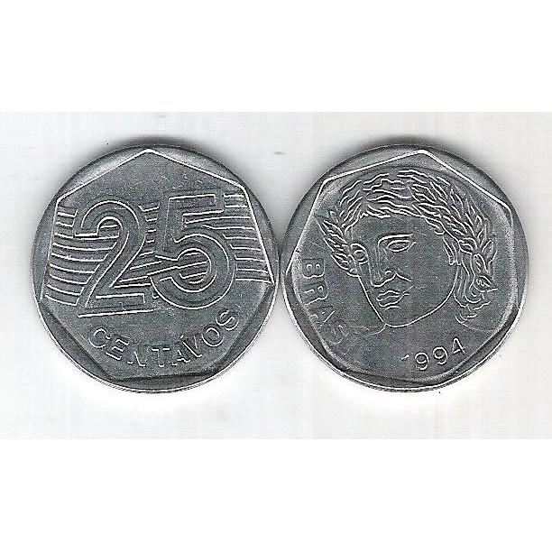 1994 -   25 Centavos, soberba, aço.