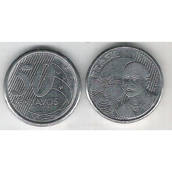 2003 - 50 Centavos, soberba (s), aço. Barão do Rio Branco.
