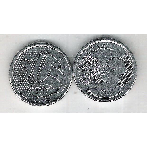 2010 - 50 Centavos, s, aço. Barão do Rio Branco.