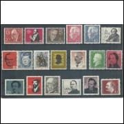 Alemanha, 19 selos diferentes com Personalidades. Sem carimbo, com goma, mint.