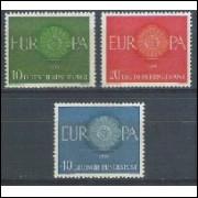 Alemanha, 1960, Tema Europa. Sem carimbo, com goma, mint. Yv. 210-212.