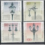 Alemanha-Berlin, 1979, História das luminárias. Sem carimbo, com goma, mint. Yv. 563-566.