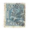 I-48 Brasil Império, 1881, 50 Réis, Dom Pedro II, Cabeça Pequena, carimbado.