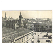 CTB82 - Cartão postal antigo, Curitiba, Vista parcial, Praça