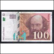 França (P.158) - 100 Francs, 1995, mbc/s.