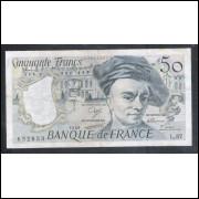 França (P.152d) - 50 Francs, 1989, mbc/s.