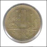 1956 - 1 Cruzeiro, bronze-alumínio, FC.