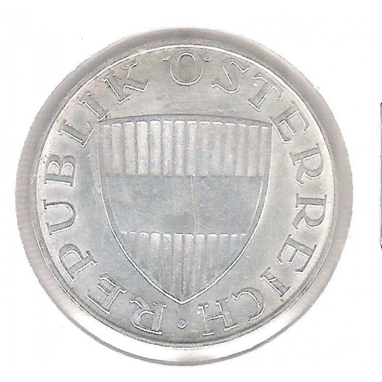Áustria, 10 Schilling 1972. Prata .640 - 7,5 g - 26 mm. mbc.