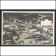 NS2 - Cartão postal antigo, 1960, Aparecida do Norte, vista parcial, igreja, religião.