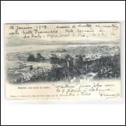 SN01 - Cartão postal circulado, 1907 - Santos.Editores M. Pontes - Co, Bazar de Paris,Santos No 46.