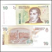 Argentina - (P.354) 10 Pesos, 2003, fe. Personalidade, Manuel Belgrano.