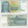 Iuguslávia - (P.131) 500000 Dinara, 1993, mbc/s. Personagem, Petar II Petrovic Niegos