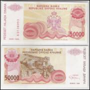 Bósnia-Herzegovina (Knin) - 50000 Dinara, 1993, s-fe..
