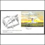 FDC-453 - 1988 - Promulgação da Constituição de 1988. Carimbo: Brasília-DF.