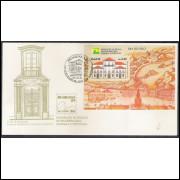 FDC-475 - 1989 - Dia do Selo. Exposição Filatélica. Brasiliana. Paço Imperial do RJ. Arquitetura.