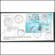 FDC-440cco - 1988 - Antártica. Carimbo especial da Estação Comandante Ferraz