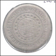 1894 - Brasil, 200 Réis, cuproníquel, mbc/s.