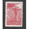 1934 - C-78 - Visita do Cardeal Pacelli (Pio XII), 300 Réis, 1a tiragem, vinho, novo, sem goma. *