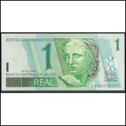 C254 - 1 Real, 2003, Bandeira, AC, SÉRIE 0001 -Antonio Palocci e Henrique Meirelles, fe. Beija Flor.