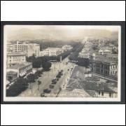 BH15 - Foto Postal circulado 1931 Belo Horizonte, Avenida Afonso Pena, centro.
