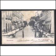 RE47 - Postal circulado 1907 Recife Rua 15 de Novembro