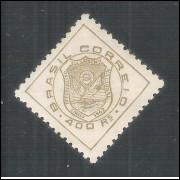 C0177A- 1942 - 4o Congresso Eucarístico Nacional. Filigrana -Q- menor. Novo, com goma