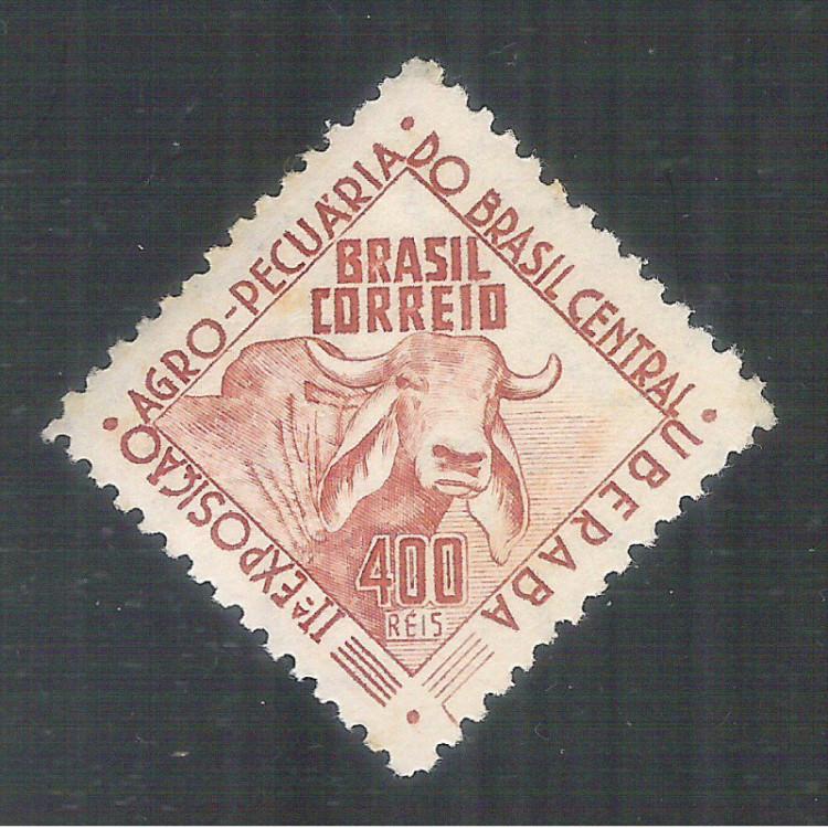 C0172A- 1942 - 2a Exposição Agropecuária do Brasil. Filigrana -Q- menor. Novo, com goma