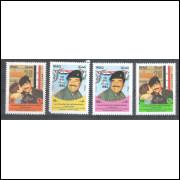 Iraque, 1986,  49o Aniversário do Presidente Saddan Hussein. Sc.1227-1230