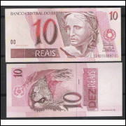 C295 - 10 Reais, CC, 2003, Antônio Palocci Filho e Henrique Meirelles, fe. Arara.