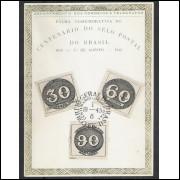 FA03 - 1943 Fôlha Comemorativa do Centenário do Selo Postal no Brasil - Olhos-de-Boi.