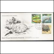 FDC-175- 1979 - Parque Nacional da Amazônia. Fauna e Flora. Vitória Régia, Peixe-boi, tartaruga.