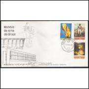 FDC-198- 1980 - Museus de Arte no Brasil. Carimbo de 1o dia do Paraná.