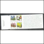 Suécia - 1995 - Caderneta, Flores, flora.