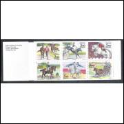 Suécia - 1990 - Caderneta, Hipismo, cavalo, esporte.