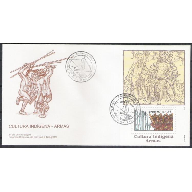 FDC-696 - 1997 - Cultura Indígena - Armas.