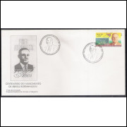FDC-669 - 1996 - Centenário do nascimento de Irineu Bornhausen. Personalidade.