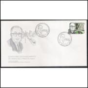 FDC-668 - 1996 - Centenário do nascimento de Francisco Prestes Maia. Personalidade.