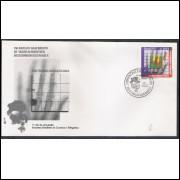 FDC-657 - 1995 - 150 anos do nascimento de Wilhelm Roentgen - descobridor dos raiox X. Medicina.