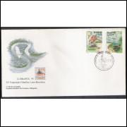 FDC-655 - 1995 - Lubrapex - Exposição Filatélica. Rio Tietê. Fauna e Flora.