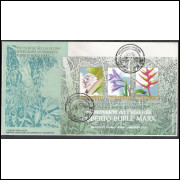 FDC-651 - 1995 - Preservação da Flora. Roberto Burle Marx. Personagem.Exposição Filatélica-Singapura