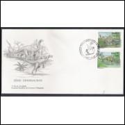 FDC-649 - 1995 - Série Dinossauros. Fauna.