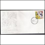 FDC-642 - 1995 - 100 Anos de Amizade Brasil-Japão.