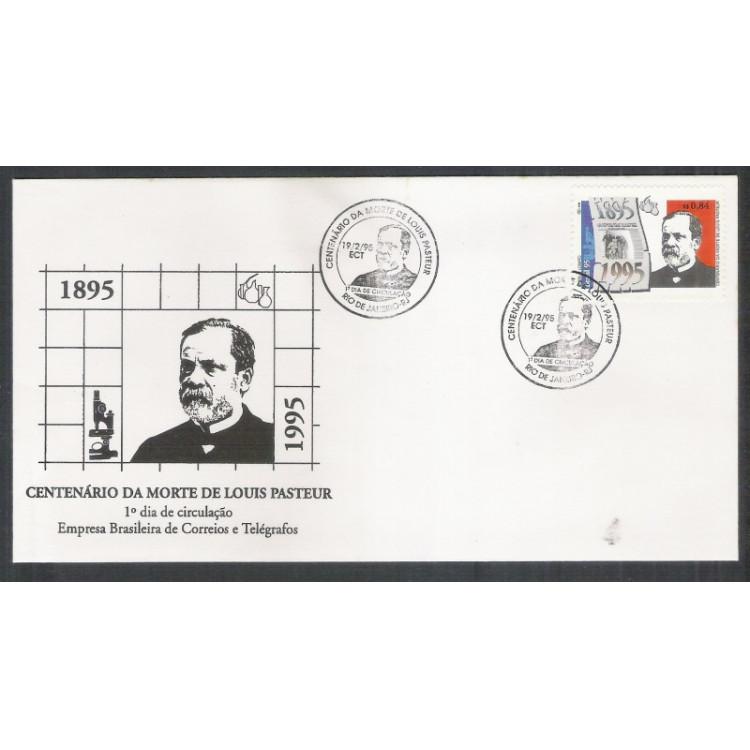 FDC-636 - 1995 - Centenário da morte de Louis Pasteur. Medicina. Personalidade.