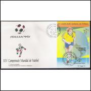 FDC-501 - 1990 - XIV Campeonato Mundial de Futebol - Copa do Mundo-Itália. Esporte.