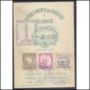 FO01 - 1945 Centenário do Nascimento do Barão do Rio Branco. Com carimbos.