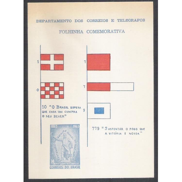 FO19 - 1965 Folhinha comemorativa do Centenário da Batalha Naval de Riachuelo.